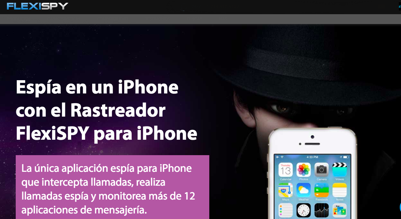 iPhone espía de FlexiSPY